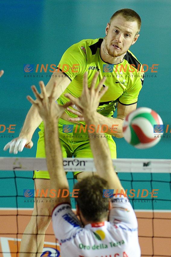 Ivan Zaytsev (MRomA).MRoma Volley vs Lube Banca Macerata 0-3.Campionato di Pallavolo Serie A1.Roma, 02/10/2011.Photo Antonietta Baldassarre Insidefoto