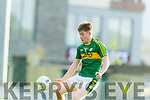 Brian Friel Kerry in action against Clare in the Munster Minor Quarter Final at Austin Stack Park Tralee on Wednesday night.