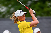 Stacy Lewis (USA) watches her tee shot on 1 during Friday's second round of the 72nd U.S. Women's Open Championship, at Trump National Golf Club, Bedminster, New Jersey. 7/14/2017.<br /> Picture: Golffile | Ken Murray<br /> <br /> <br /> All photo usage must carry mandatory copyright credit (&copy; Golffile | Ken Murray)