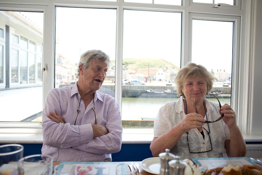 John and Sarah Wiseman my parents. Summer day at West Bay, Brid Port, Dorset, UK.