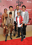 "WESTWOOD, CA. - June 07: Jada Pinkett Smith, Will Smith, Willow Smith, Jackie Chan, Jaden Smith, Trey Smith and Jackie Chan arrive at ""The Karate Kid"" Los Angeles Premiere at Mann Village Theatre on June 7, 2010 in Westwood, California."