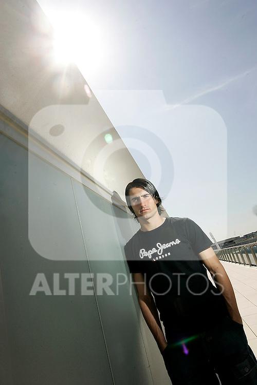 Real Madrid's Ruben de La Red during portrait session, September 19, 2008. (ALTERPHOTOS/Alvaro Hernandez)