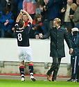 FALKIRK'S MARK MILLAR CELEBRATES AFTER HE SCORES THE WINNER