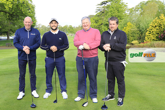 Alexander Levy (FRA) team in action during Wednesday's Pro-Am of the 2016 Dubai Duty Free Irish Open hosted by Rory Foundation held at the K Club, Straffan, Co.Kildare, Ireland. 18th May 2016.<br />