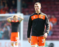 Blackpool's Chris Long during the pre-match warm-up <br /> <br /> Photographer David Shipman/CameraSport<br /> <br /> The EFL Sky Bet League One - Scunthorpe United v Blackpool - Friday 19th April 2019 - Glanford Park - Scunthorpe<br /> <br /> World Copyright © 2019 CameraSport. All rights reserved. 43 Linden Ave. Countesthorpe. Leicester. England. LE8 5PG - Tel: +44 (0) 116 277 4147 - admin@camerasport.com - www.camerasport.com