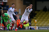 Bryn Morris of Portsmouth celebrates scoring the first goal during Southend United vs Portsmouth, Sky Bet EFL League 1 Football at Roots Hall on 16th February 2019