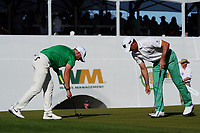 Wyndham Clark and Billy Horschel (USA) on the 16th hole during the third round of the Waste Management Phoenix Open, TPC Scottsdale, Phoenix, USA. 31/01/2020<br /> Picture: Golffile | Phil INGLIS<br /> <br /> <br /> All photo usage must carry mandatory copyright credit (© Golffile | Phil Inglis)