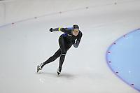 SCHAATSEN: HEERENVEEN: Thialf, 4th Masters International Speed Skating Sprint Games, 25-02-2012, Irma Woud (F40) 2nd, ©foto: Martin de Jong