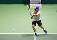 Februari 13, 2015, Netherlands, Rotterdam, Ahoy, ABN AMRO World Tennis Tournament, Robin Haase (NED) / Andre Bagemann (GER)<br /> Photo: Tennisimages/Henk Koster