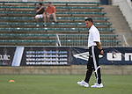 15 July 2007: Chicago head coach Juan Carlos Osorio (COL).  The United Soccer League Division 1 Carolina Railhawks defeated Major League Soccer's Chicago Fire 1-0 in a Third Round Lamar Hunt U.S. Open Cup game at SAS Stadium in Cary, North Carolina.