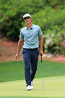 Thorbjorn Olesen (DEN) on the 13th green during the final round at the The Masters , Augusta National, Augusta, Georgia, USA. 14/04/2019.<br /> Picture Fran Caffrey / Golffile.ie<br /> <br /> All photo usage must carry mandatory copyright credit (© Golffile | Fran Caffrey)