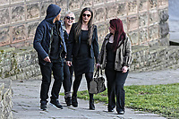 COPY BY TOM BEDFORD<br /> Pictured: Shanice Clark (3rd L) arrives at Newport Coroner's Court. Monday 26 February 2018<br /> Re: Inquest to be held at Newport Coroner's Court, into the death of five year old Ellie-May Clark who died of an asthma attack, after being refused a GP appointment in Newport, south Wales. <br /> Dr Joanne Rowe refused to see her, on the grounds that her mother was a few minutes late for a booked appointment.<br /> A few hours later, Ellie-May Clark suffered a seizure and died, despite the efforts of an ambulance crew.