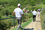 Nicolas Colsaerts (BEL) walks down from the 15th tee box during the morning Semi-Final session on the Final Day of the Volvo World Match Play Championship in Finca Cortesin, Casares, Spain, 22nd May 2011. (Photo Eoin Clarke/Golffile 2011)