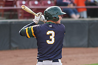 Beloit Snappers infielder Trent Gilbert (3) waits on deck during a Midwest League game against the Wisconsin Timber Rattlers on May 30th, 2015 at Fox Cities Stadium in Appleton, Wisconsin. Wisconsin defeated Beloit 5-3 in the completion of a game originally started on May 29th before being suspended by rain with the score tied 3-3 in the sixth inning. (Brad Krause/Four Seam Images)