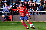 Felipe Augusto de Almeida of Atletico de Madrid during La Liga match between Real Madrid and Atletico de Madrid at Santiago Bernabeu Stadium in Madrid, Spain. February 01, 2020. (ALTERPHOTOS/A. Perez Meca)