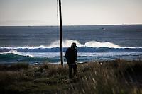 Alberto in Doniños, a beach near Ferrol where he often surfs.