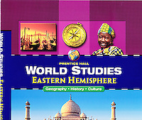 Social Studies Book Cover showing Young Village Woman from Niger with Tattoo on Forehead.