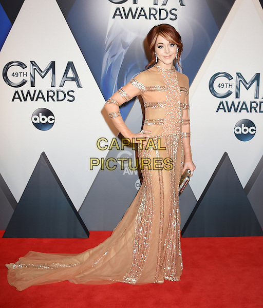 4 November 2015 - Nashville, Tennessee - Lindsey Stirling. 49th CMA Awards, Country Music's Biggest Night, held at Bridgestone Arena. <br /> CAP/ADM/LF<br /> &copy;LF/ADM/Capital Pictures