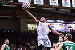 S&ouml;dert&auml;lje 2014-04-22 Basket SM-Semifinal 7 S&ouml;dert&auml;lje Kings - Uppsala Basket :  <br /> Uppsalas Thomas Jackson g&ouml;r po&auml;ng<br /> (Foto: Kenta J&ouml;nsson) Nyckelord:  S&ouml;dert&auml;lje Kings SBBK Uppsala Basket SM Semifinal Semi T&auml;ljehallen