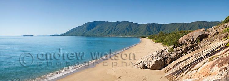 View along Wangetti Beach, near Cairns, Queensland, Australia