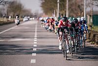 Nikolas Maes (BEL/Lotto-Soudal) driving the peloton<br /> <br /> Driedaagse Brugge-De Panne 2018<br /> Bruges - De Panne (202km)