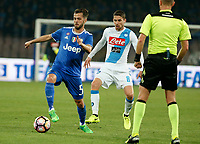 Miralem Pjanic  during the  italian serie a soccer match,between SSC Napoli and Juventus       at  the San  Paolo   stadium in Naples  Italy , April 02, 2017
