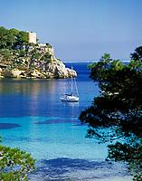 Spanien, Balearen, Mallorca, Bucht bei Cap de Cala Figuera | Spain, Balearic Islands, Mallorca, bay near Cap de Cala Figuera