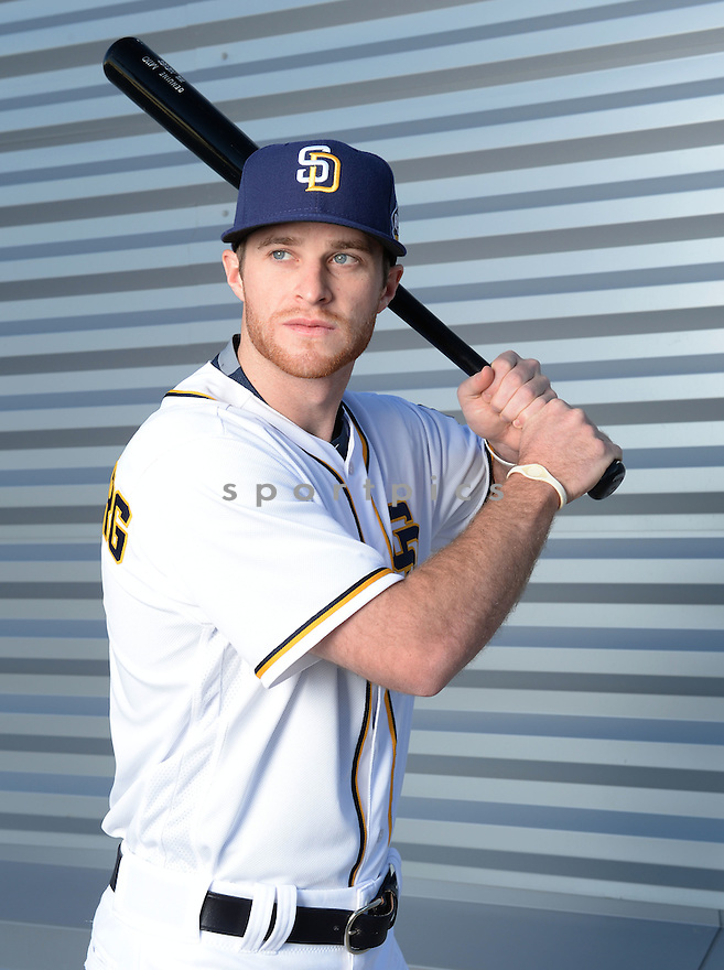 San Diego Padres Cory Spangenberg (15) during photo day on February 26, 2016 in Peoria, AZ.
