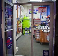 A MetroPCS store is seen in Lower Manhattan in New York on Wednesday, October 3, 2012. MetroPCS and T-Mobile USA announced that  Deutsche Telekom AG, the owner of T-Mobile USA will now hold a 74 percent stake in the merged companies with the remaining shares held by MetroPCS shareholders who will also get a $1.5 billion payment. The combined companies will have almost 42 million subscribers but will still only be the fourth largest US cell phone company. (© Richard B. Levine)
