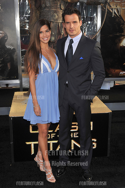 "Antonio Sabato Jr. & wife at the Los Angeles premiere of ""Clash of the Titans"" at Grauman's Chinese Theatre, Hollywood..March 31, 2010  Los Angeles, CA.Picture: Paul Smith / Featureflash"