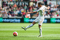 Jefferson Montero of Swansea City in action during the Barclays Premier League match between Swansea City and Manchester City played at the Liberty Stadium, Swansea on the 15th of May  2016