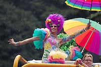 SAO PAULO, SP, 02 JUNHO 2013 - PARADA DO ORGULHO GLBT - Participante durante a 17 Parada do Orgulho LGBT na Avenida Paulista, na tarde deste domingo, 02. (FOTO: MARCELO BRAMMER / BRAZIL PHOTO PRESS).