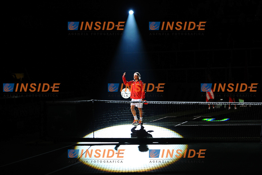 David Ferrer (Esp) La Repubblica Ceca vince la coppa Davis 2012 di Tennis .Praga 16-18/11/2012.Finale Coppa Davis.Repubblica Ceca Vs Spagna.Foto Couvercelle / Tennismag / Panoramic / Insidefoto
