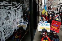 Ukrainian immigrants take part in a protest against war in New York. March 2, 2014. Photo by Eduardo Munoz Alvarez/VIEWpress