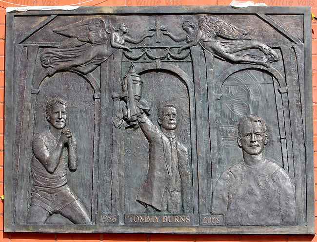 Tommy Burns plaque at Celtic Park