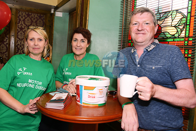 Lorraine Mulroy, Margaret Farrelly and Paul Lannon at the Motor Neurone fundraiser in the Dunleer Inn. www.newsfile.ie