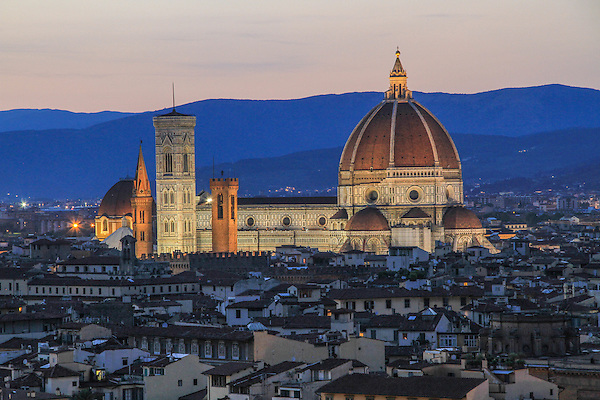 The Duomo Cathedral at sunset, Florence, Italy. .  John offers private photo tours in Denver, Boulder and throughout Colorado, USA.  Year-round. .  John offers private photo tours in Denver, Boulder and throughout Colorado. Year-round.