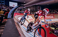 Jasper de Buyst (BEL/Lotto-Soudal) & Tosh Van der Sande (BEL/Lotto-Soudal) at their 500m TT<br /> <br /> zesdaagse Gent 2019 - 2019 Ghent 6 (BEL)<br /> day 3<br /> <br /> ©kramon