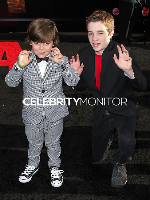 """HOLLYWOOD, LOS ANGELES, CA, USA - MAY 08: Carson Bolde at the Los Angeles Premiere Of Warner Bros. Pictures And Legendary Pictures' """"Godzilla"""" held at Dolby Theatre on May 8, 2014 in Hollywood, Los Angeles, California, United States. (Photo by Xavier Collin/Celebrity Monitor)"""