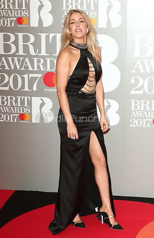Ellie Goulding at The BRIT Awards 2017 at The O2, Peninsula Square, London on February 22nd 2017<br /> CAP/ROS<br /> &copy; Steve Ross/Capital Pictures /MediaPunch ***NORTH AND SOUTH AMERICAS ONLY***