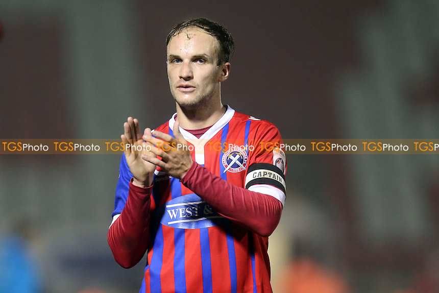 Scott Doe of Dagenham after Dagenham & Redbridge vs Solihull Moors, Vanarama National League Football at the Chigwell Construction Stadium on 17th December 2016