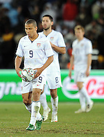 Charlie Davies of USA looks dejected after Brazil's winning goal. Brazil defeated USA 3-2 in the FIFA Confederations Cup Final at Ellis Park Stadium in Johannesburg, South Africa on June 28, 2009.