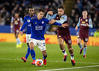 Leicester City's Dennis Praet competing with Aston Villa's Jack Grealish (right) <br /> <br /> Photographer Andrew Kearns/CameraSport<br /> <br /> The Premier League - Leicester City v Aston Villa - Monday 9th March 2020 - King Power Stadium - Leicester<br /> <br /> World Copyright © 2020 CameraSport. All rights reserved. 43 Linden Ave. Countesthorpe. Leicester. England. LE8 5PG - Tel: +44 (0) 116 277 4147 - admin@camerasport.com - www.camerasport.com