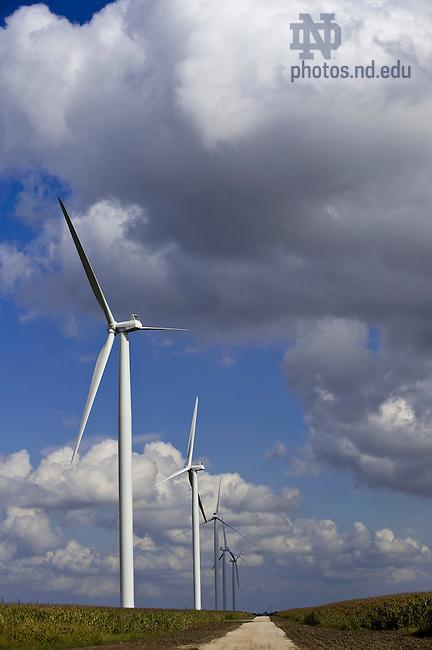 Fowler Ridge Wind Farm in Benton County, IN...Photo by Matt Cashore/University of Notre Dame