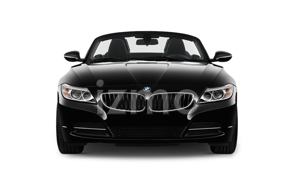 Car photography straight front view of a 2016 BMW Z4 sDrive28i 2 Door Convertible Front View