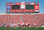 A general view of Camp Randall Stadium from the south endzone during the Wisconsin Badgers NCAA college football game against the Austin Peay Governors on September 25, 2010 in Madison, Wisconsin. The Badgers beat the Governors 70-3. (Photo by David Stluka)