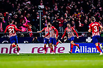 Diego Costa of Atletico de Madrid (C) celebrates his goal during the La Liga 2018-19 match between Atletico Madrid and FC Barcelona at Wanda Metropolitano on November 24 2018 in Madrid, Spain. Photo by Diego Souto / Power Sport Images