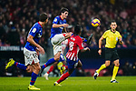 Mikel San Jose Dominguez of Athletic de Bilbao (C) competes for the ball with Gelson Martins of Atletico de Madrid during the La Liga 2018-19 match between Atletico de Madrid and Athletic de Bilbao at Wanda Metropolitano, on November 10 2018 in Madrid, Spain. Photo by Diego Gouto / Power Sport Images
