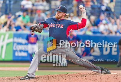 8 March 2015: Boston Red Sox pitcher Robbie Ross on the mound during Spring Training action against the New York Mets at Tradition Field in Port St. Lucie, Florida. The Mets fell to the Red Sox 6-3 in Grapefruit League play. Mandatory Credit: Ed Wolfstein Photo *** RAW (NEF) Image File Available ***