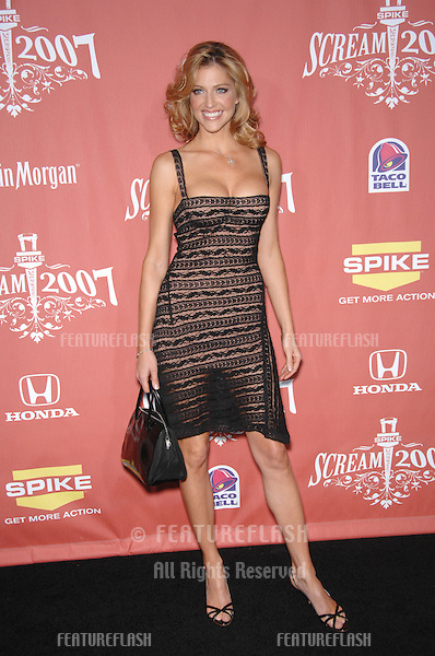 "Tricia Helfer at Spike TV's ""Scream 2007"" Awards honoring the best in horror, sci-fi, fantasy & comic genres, at the Greak Theatre, Hollywood..October 20, 2007  Los Angeles, CA.Picture: Paul Smith / Featureflash"